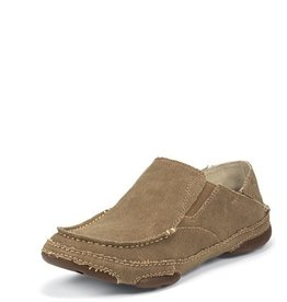 Tony Lama Men's Tony Lama Lindale Wheat Canvas Slip-On