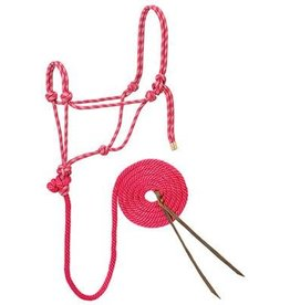 Weaver Reflective Diamond Braid Rope Halters & Leads - Horse