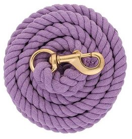 Weaver Leather Company 10' Braided Cotton Lead - Brass Snap Lavender