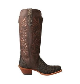 Twisted X, Inc Women's Rancher Boot – Croco Dark Chocolate