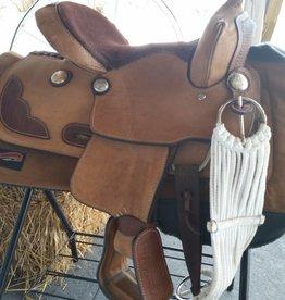 "Showman Used Youth Western Trail Saddle, FQHB - 13"""