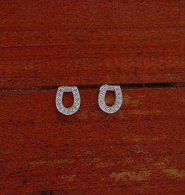 Baron Silver Earrings - CZ Horseshoe