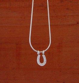 Baron Silver Necklace - CZ Horseshoe