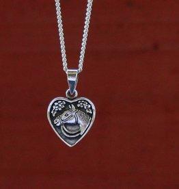 Baron Silver Necklace - Horse Head Heart