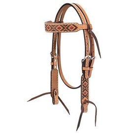 Weaver Turquoise Cross Pony Browband Headstall
