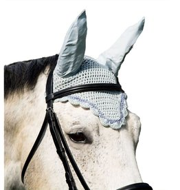 Intrepid Scalloped Crochet Fly Veil with Ears - Horse Size