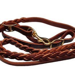 Hadlock & Fox 3 Plait Medium Oil Harness Leather Gaming Reins