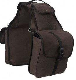 Tough1 Canvas Saddle Bag, Brown