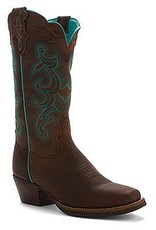 Justin Western Women's Justin Chocolate Buffalo Silver Collection Boots