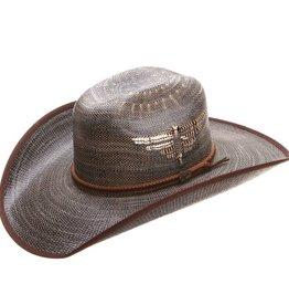 Milano Justin Bent Rail Fenix Straw Hat Black