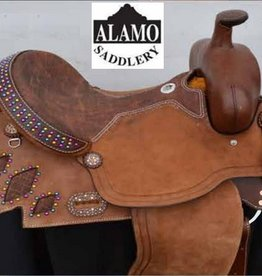 "Alamo Alamo Barrel Saddle - 15"" FQHB"