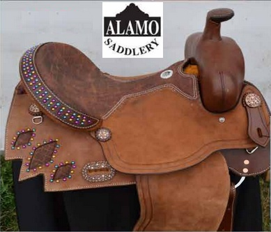 "Alamo Alamo Barrel Saddle - 15"" FQHB"
