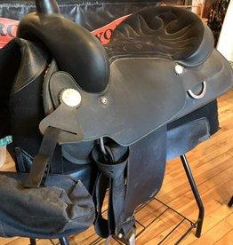 "Wintec Used 17"" Wintec Western Saddle w/ Pad and Turners"