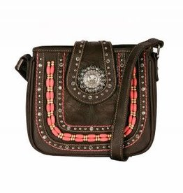 Montana West Handbag - Cross Body with Pink Accents