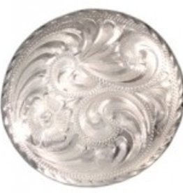Tough-1 Bright Cut Edge Low Dome Concho Threaded for Post
