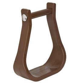 Weaver Polymer/Synthetic Western Stirrups - Brown, Bell