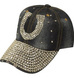 Showman Showman Couture Rhinestone Horseshoe Ball Cap