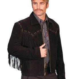 Scully Boar Suede Fringe Jacket - Large