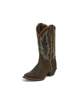 Justin Western Women's Justin Calimero Distressed Chocolate Western Boots