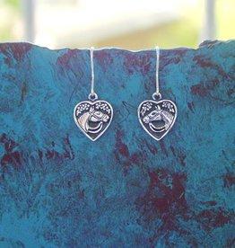 Baron Silver Earrings - Horse Head Heart