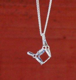 Baron Silver Necklace - Halter Pendant