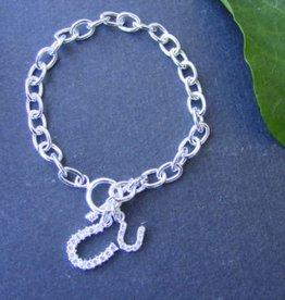 Baron Silver Bracelet - Double Horseshoe