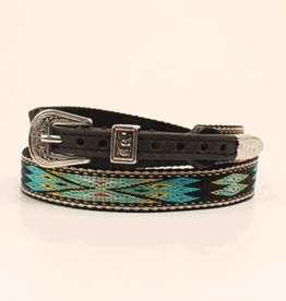 "M & F Hat Band - 5/8"" Multi-Colored Aztec Print"