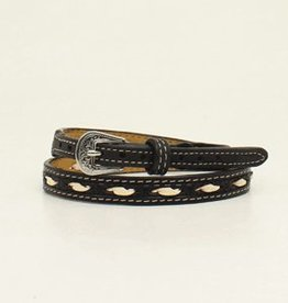 "M & F Hatband - 1/2"" Black w/Ivory"