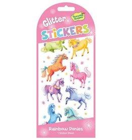 GT Reid Glitter Stickers Rainbow Ponies