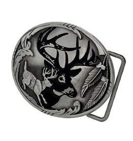 """WEX Deer Buckle 3-1/4"""" X 2-1/2"""""""