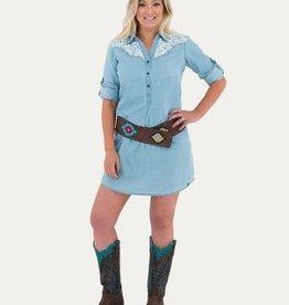 Noble Women's Noble Bluegrass Lace Dress Medium - SALE $25