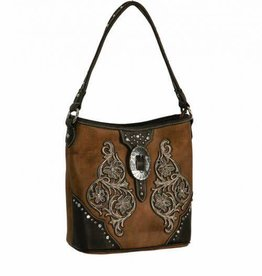 Montana West Handbag - Conceal Carry with Overlay