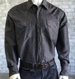 Rockmount Men's Rockmount Black Chambray Western Shirt