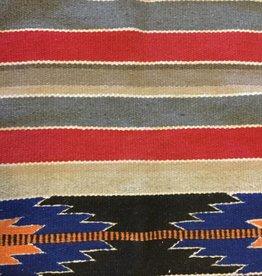 Navajo Wool Blanket, Red Blue & Green