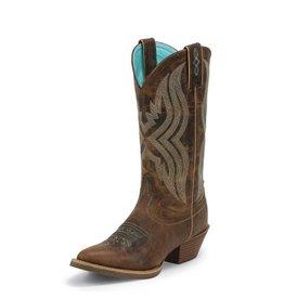 Justin Western Women's Justin Quinlan Coffee Western Boot