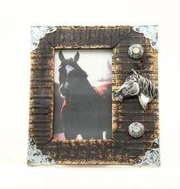 """Western Moments Picture Frame - 3D Horse Head 4""""x6"""""""
