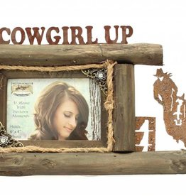 """Western Moments Picture Frame - Cowgirl Up 4""""x6"""""""