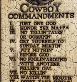 Giftcraft Inc. Cowboy 10 Commandments Plaque