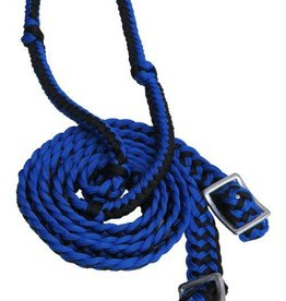 Showman Showman Braided Nylon Barrel Reins w/ Easy Grip Knots