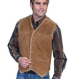 Scully Men's Scully Boar Suede Hunting Vest, Cafe Brown