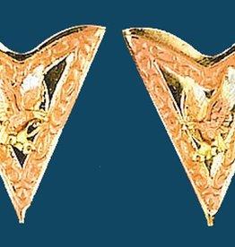 WEX Collar Tips - Tricolor Eagle