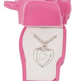 WEX Necklace - Horse Head Heart in Gift Box