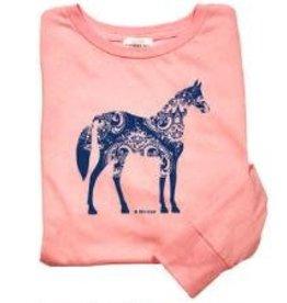 Stirrups Children's Stirrups Long Sleeve T-Shirt - Swirl Horse