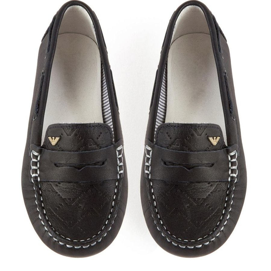 Armani Junior Leather Loafer 161 C4501