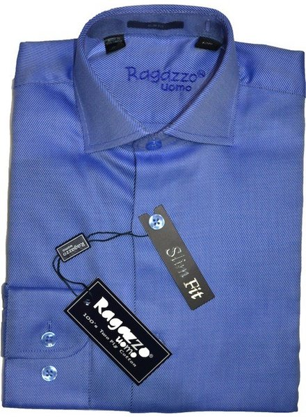 Ragazzo Men's Shirt Diagional Slim Fit ROBERT2200