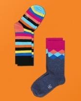 Happy Socks 2PK Kids KFD02-067C