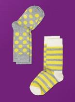 Happy Socks 2PK Kids KBD02-095C