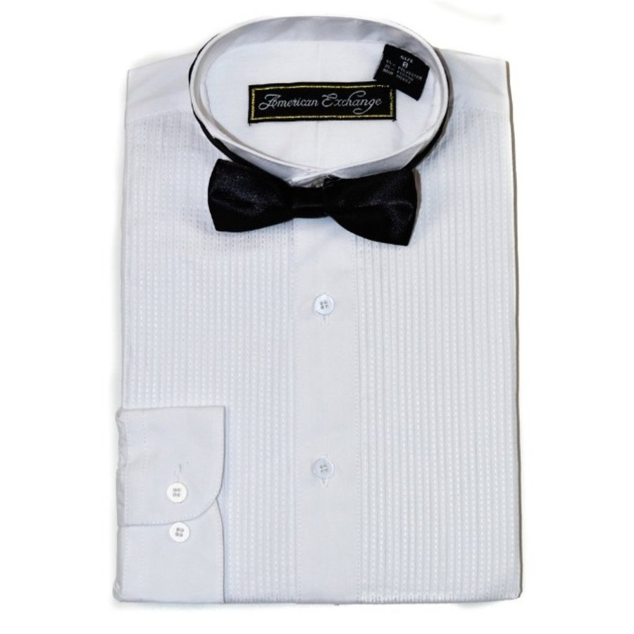 American Exchange Boys Tuxedo Shirt 056E01