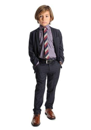 Appaman Appaman Mod Boys Slim Suit Navy Tattersall Plaid