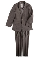 Appaman Appaman Mod Boys Slim Suit Charcoal Windowpane